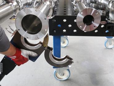 Orbimat 180 SW od firmy Orbitalum svařuje nerezové ventilové uzly</br>pro nápojový průmysl